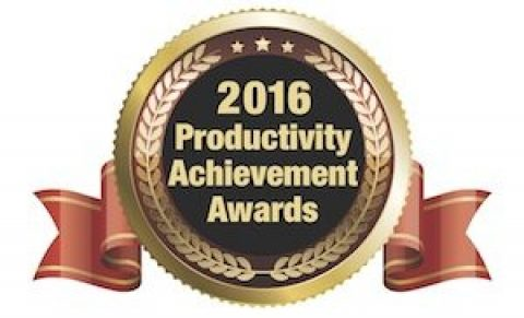 Pyramid receives Modern Materials Handling's Productivity Achievement Award from eBay Enterprise facility project.
